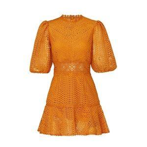 Saylor Milo Puff Sleeve Lace Dress S